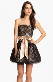 Jessica McClintock Strapless Lace & Tulle Dress
