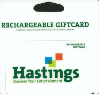 100 HASTINGS ENTERTAINMENT GIFT CARD ACTIVATED Books Music Coffee Bar