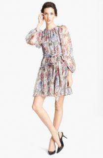 Dolce&Gabbana Blouson Print Chiffon Dress