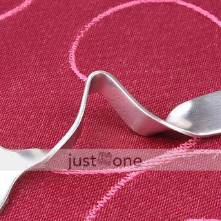 Smile Face Curved Tea Coffee Drink Condiment Spoon Teaspoon