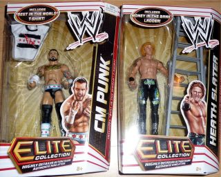 CM PUNK HEATH SLATER WWE Mattel Elite Series 16 LOT Of 2 Action