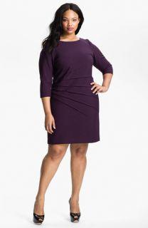 Eliza J Starburst Pleat Jersey Dress (Plus)