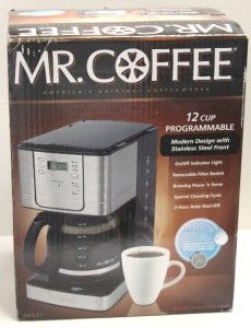coffee 12 cup stainless steel programmable coffee maker water filter