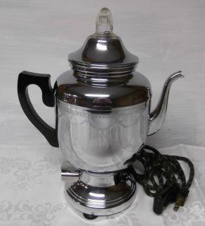 FARBERWARE ELECTRIC PERCULATOR PERCOLATOR COFFEE MAKER NO 208 WORKS