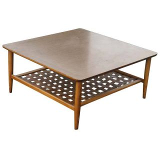 Lexington long cove greenport storage cocktail table for Long coffee table with storage
