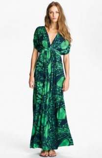 Tbags Los Angeles V Neck Dolman Sleeve Jersey Maxi Dress