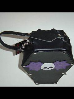 Gothic Punk Coffin Vampire Bat Skull Bag Addicted Purse