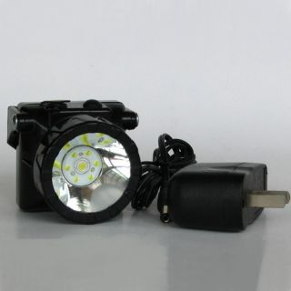 Black Wireless LED Coal Mining Light Miners Lamp Camping Hiking