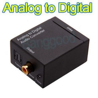 Analog to Digital Coaxial RCA Optical Toslink Audio Converter