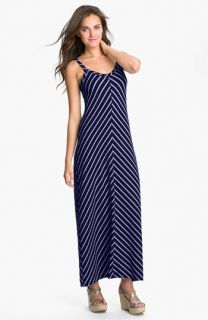 Allen Allen Stripe Knit Maxi Dress (Petite)