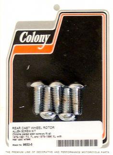 Harley 79 96 FL FX XL Rear Rotor Bolt Kit Colony 9632 5
