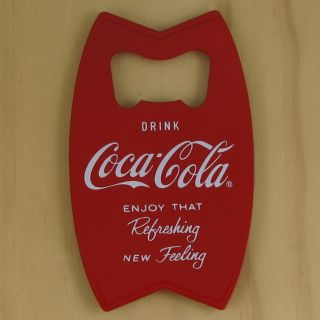 Coca Cola Red Bottle Opener Fridge Magnet, Solid Metal Construction