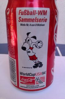 Coca Cola Can World Cup USA 1994 Mundial German Edition Germany RARE