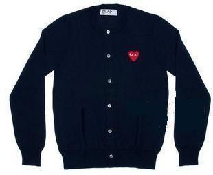 Comme Des Garcons CDG Play Heart Ladys Cardigan Sweater S