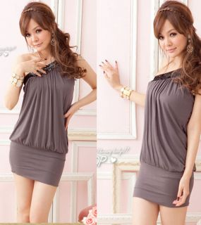 New Womens Sexy Clubwear Cocktail Party One Off Shoulder Mini