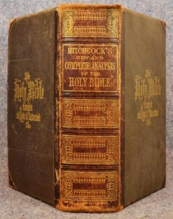 Antique 1861 Bible Analysis Hitchcocks Illustrated Concordance Family