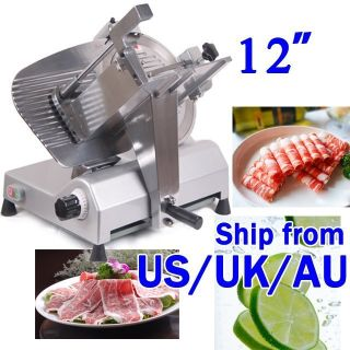 12 Blade Commercial Stainless Steel Electric Meat Slicer Restaurant