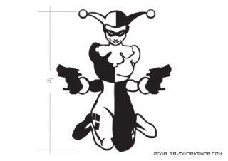 Harley Quinn Sticker Diecut Decal Batman Animated 1