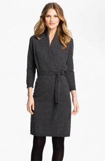BOSS Black Faux Wrap Sweater Dress