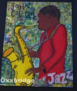 John Coltrane Original 1960 Art African American Black Americana Jazz