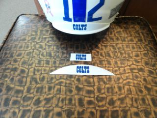 Indianapolis Colts Football Helmet Decals Nose & Neck for Riddell