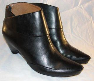 Corso Como Sz 7 Womens Boca Black Leather Ankle Booties Boots