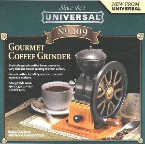 cast iron coffee grinder mill hand crank nib