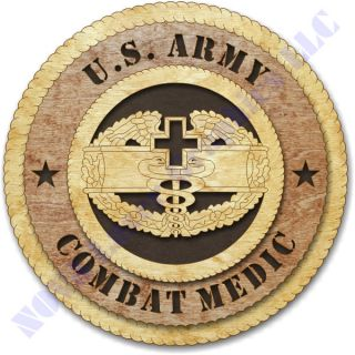 Army Combat Medic Badge Birch Wall Plaque