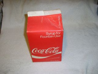 Coca Cola Gallon Syrup Cardboard Container