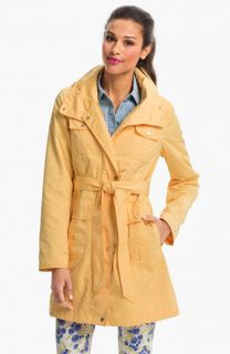 Ellen Tracy Fly Front Trench Coat