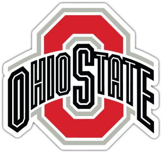 Buckeyes NCAA College Car Bumper Window Sticker Decal 4 5x4 5