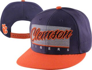 Clemson Tigers 47 Brand Kelvin Adjustable Snapback Flat Brim Hat