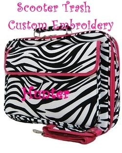 Personalized 17 Computer Laptop Case Bag Zebra Print with Hot Pink