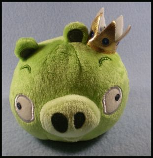 Commonwealth Angry Birds Plush Toy 4 Green Pig w Crown New