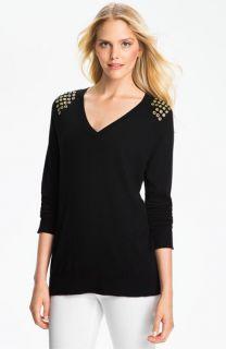 MICHAEL Michael Kors Grommet Shoulder Sweater
