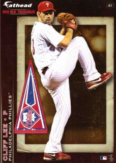 MLB 2012 Fathead Tradeables Cliff Lee Philadelphia Phillies Baseball