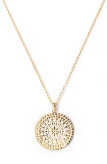 Anna Beck Two Tone Round Pendant Necklace