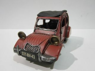 Vintage Handmade Tin Metal Art Model Car Collectible Vehicles