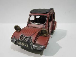 Vintage Handmade Tin Metal Art Model Car Collectible Vehicles