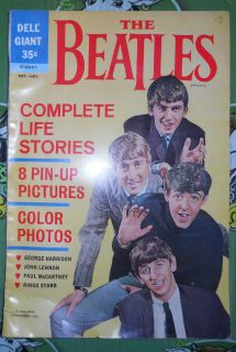 Beatles 1964 DELL Giant Complete Life Stories Comic Book 07 059 411