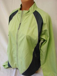 SZ M NEW WOMENS ARIAT REFLECTIVE WINDBREAKER RIDING JACKET #132 LIME