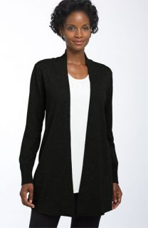 Eileen Fisher Cotton & Cashmere Open Cardigan