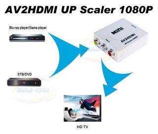 Full 1080p Composite AV CVBS RCA to HDMI Converter PAL NTSC TV PC PS3