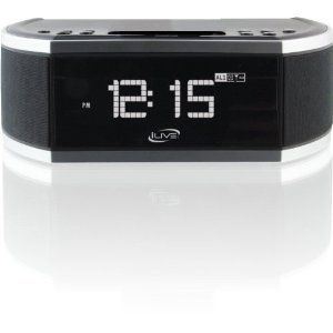 iLive iPhone iPod Clock Radio Docking Charging Station Black Aux in TV
