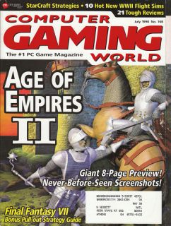 Computer Gaming World Video Game Magazine July 1998