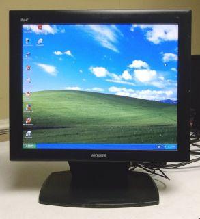 18 Flat Screen LCD Desktop Computer Monitor Speakers VGA as Is