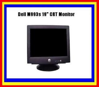 Computer Monitor 19 inches Black VGA Dell M993s 19 CRT Monitor