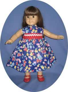 American Girl Doll Clothes EASTER DRESS Spring flowers 18 doll clothes