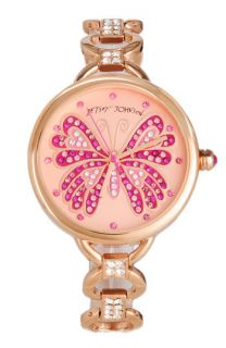Betsey Johnson Bling Bling Time Butterfly Dial Watch