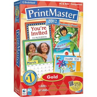 PRINTMASTER 2012 GOLD MAC PC SOFTWARE BRAND NEW FACTORY SEALED RETAIL